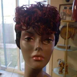 New Human Hair Blend Wig